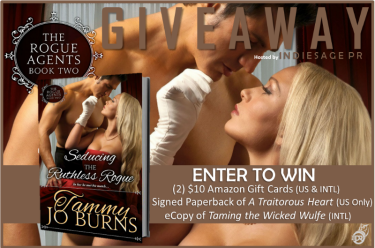 Seducing the Ruthless Rogue Giveaway Graphic